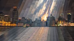 """""""Sunset at the Bund, 2014"""" from Fong Qi Wei's """"Time is a Dimension"""" series."""