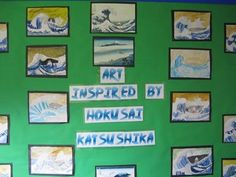 Beautiful art inspired by Hokusai Katsushika - Sherborne Abbey Church Of England Voluntary Controlled Primary School