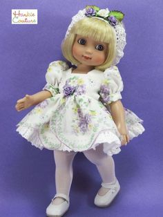 OOAK NYLON DOLL DRESS FIT TONNER ANN ESTELLE PATSY SOPHIE VINTAGE HANKIE COUTURE. Sold for one bid of $34.99 on 6/5/15.: