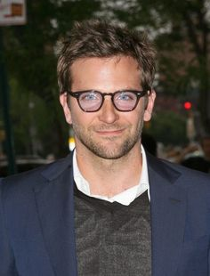 027981a0f5 Huh - Bradley Cooper dials up the IQ with these very smart specs.