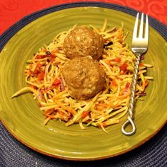 Asian Meatballs And Sriracha Slaw
