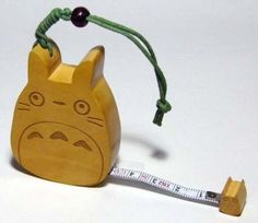 1 left - Tape Measure - 200cm - Wood - made in India - Totoro & Sho Totoro - out of production (new)