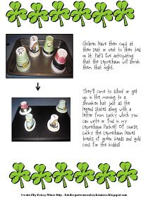 Mrs. Miner's Kindergarten Monkey Business: The Incredible Shrinking Hats and a St. Patrick's Day FREE Directed Drawing Freebie