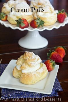 Cream Puffs #recipe | Dinners, Dishes, and Desserts Click on the picture to get the recipe!