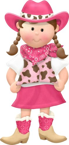 Cowgirl Pretty in Pink Clip Art Girl Clipart, Cute Clipart, Cowgirl Party, Cowboy And Cowgirl, Cute Images, Cute Pictures, Meninos Country, Line Dance, Western Parties