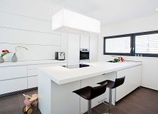 Nice kitchen with a Novy Zen cooker hood Zen, Cooker Hoods, New Kitchen, Cool Kitchens, Table, Furniture, Inspirational, Home Decor, Projects