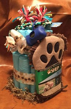 Dog Gifts – Buying Gifts For Puppies and Dogs New puppy gift Wee wee pad cake dog gift puppy by FineAnDainty. New Puppy Gift Box Dog Birthday Gift, Puppy Gifts, Diy Dog Gifts, Dog Crafts, Puppy Party, New Puppy, Pets, Dog Training, Training Tips