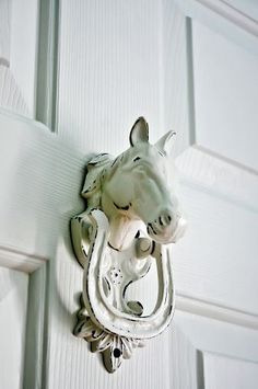 Equestrian Chic Decor - If people stylize their house, they start looking for the comfortability issue. Decorating a house or even a few rooms is a rather exciting activity. by Joey Equestrian Decor, Equestrian Style, Equestrian Bedroom, Cowgirl Bedroom, Equestrian Fashion, Door Knobs And Knockers, Unique Doors, The Doors, Front Doors