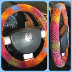 Rippled Steering Wheel Cover...FREE Crochet Pattern for any of my fellow crocheters...http://www.ravelry.com/patterns/library/chevron-steering-wheel-cozy