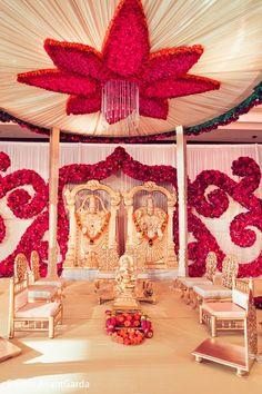 Gorgeous floral mandap decor http://www.maharaniweddings.com/gallery/photo/93230 @sonalshahevents @ElegantAffairs1