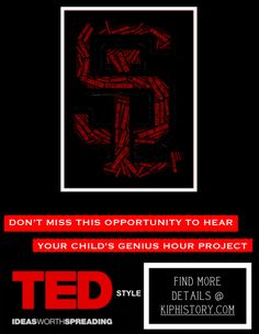 Hold a TED Conference for the presentations One Teacher's Genius Hour Website Inquiry Based Learning, Project Based Learning, Genious Hour, Teaching Displays, Grade 6 Math, Leader In Me, Instructional Coaching, Service Learning, Gifted Education