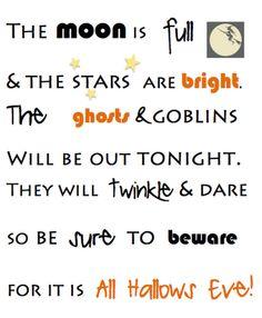 Saying For Halloween/ Needs Some Work, ...