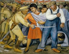 """The Uprising"" by Diego Rivera. Fresco, 74 x 93 inches. (Museum of Modern Art) : ""The Uprising"" by Diego Rivera. Fresco, 74 x 93 inches. (Museum of Modern Art) Diego Rivera Art, Diego Rivera Frida Kahlo, Frida And Diego, Protest Kunst, Protest Art, Galerie Art Paris, Clemente Orozco, Frida Art, Socialist Realism"