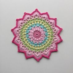 English and Swedish pattern... I hope you all liked magnolia mandala as much as I did. I have seen many different color combinations and all are really wonderful! Thank you so much for sharing your wo