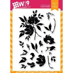 Ellen Hutson, LLC features WPlus9 Design Studio Clear Stamps, Watercolored Anemones. - $14.00