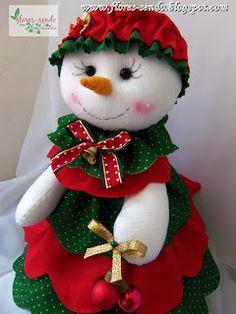 Olaaaa   O Natal foi uma correria, o ano foi uma correria, pq a vida é sempre uma correria, 'né naum...rsrsrs então não tenho conseguido ma... Christmas Crafts, Merry Christmas, Christmas Decorations, Christmas Ornaments, Holiday Decor, Felt Crafts, Snow, Party, Home Decor