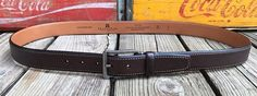 TRAFALGAR Austin Brown Genuine Italian Pebble Leather Executive Belt Men's 42 #Trafalgar #FashionBelt