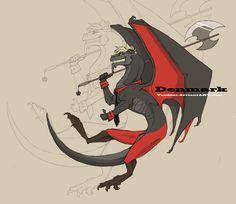Hetalia Denmark as a dragon
