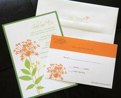 ON SALE Wildflower Wedding Invitation  by TheBestDIYInvites, $9.50