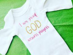 I am proof GOD answers prayers. God. Answered prayers. Baby shower. Baby girl. Christian baby. Baptism gift.