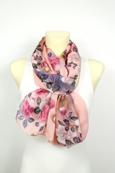 Pink Floral Scarf - Unique Boho Scarf - Floral Printed Scarf - Soft Fabric Scarf - Gift Idea for her - Women Fashion Accessories - Autumn   Size : approx. 19,5 x 67 (50cm x 170cm)  Fabric : viscose    ********************** LOCOTRENDS SPECIAL OFFER **********************  How does the Special Offer work?  ♥BUY 3 GET 1 FREE ♥ All buyers who purchase 3 items will receive the 4th item for free as a gift and it will be chosen by Locotrends. Use this option only if you like surprises, there is no…