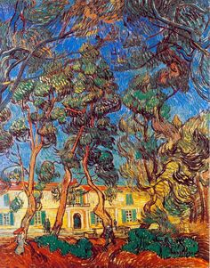 Vincent Van Gogh, The Grounds of the Asylum (Trees in front of the Entrance to the Asylum), 1889