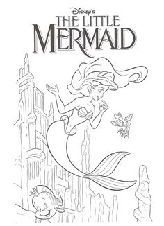 Deniz Kızı Boyama Sayfası Marine Girl Coloring Page Página Para