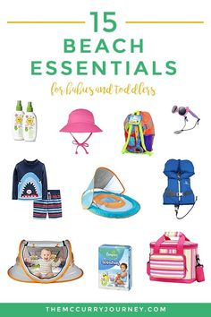 Planning any beach trips with your little ones this summer? Here are 15 beach essentials for babies and toddlers that will make your beach trip great! #beach #beachessentials Baby Beach Tent, Rash Guard Swimwear, Baby Travel, Beach Toys, Beach Essentials, Flamingo Print, Beach Blanket, Traveling With Baby, Outdoor Fun