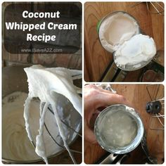 Coconut Whipped Cream Recipe (Paleo Friendly) For watermelon cake recipe Homemade Whipped Cream, Coconut Whipped Cream, Recipes With Whipping Cream, Cream Recipes, Paleo Sweets, Paleo Dessert, Watermelon Cake Recipe, Paleo Recipes, Cooking Recipes