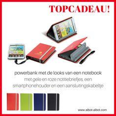 powerbank met de looks van een notebook - origineel en trendy relatiegeschenk