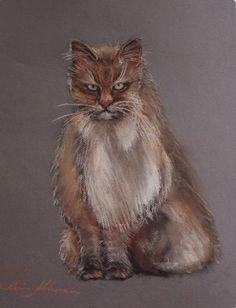 pastel painting pastellmaal loomad kass cat kunstikriitik art critic  Keiu Kuresaar