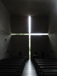 n the small town of Ibaraki, 25km outside of Osaka, Japan, stands one of Tadao Ando's signature architectural works, the Church of the Light.
