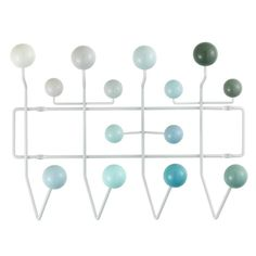 To celebrate Ray Eames Birthday. Eames 'Hang It All' coat rack released in new colours through Vitra. Charles Eames, Design Shop, Rack Design, Vitra Design Museum, Garderobe Design, Milan Furniture, School Furniture, Furniture Design, Furniture