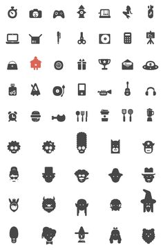 280 icons by atipo for their pay-what-you-want Bariol icons include a mix of useful and pop-ful.