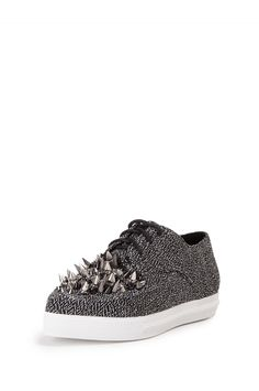 Jeffrey Campbell Shoes FAV-SPIKE Shop All in Black Lame Multi