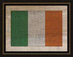 IRISH FLAG ON ANTIQUE BURLAP - Guest book idea, have everyone sign it