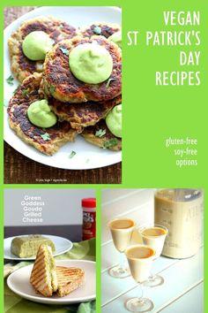 30 Vegan St Patrick's Day Recipes collection. Vegan Irish Recipes and Green things. Potato Cakes, Shamrock shake and more. Gluten-free Options. http://VeganRicha.com