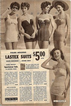 The bow bedecked styles are my faves. #vintage #summer #bathing_suit #swimsuit #fashion #1950s #Bow