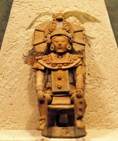 a ceramic figure of an important Maya person from the island of Jaina Campeche-Mexico