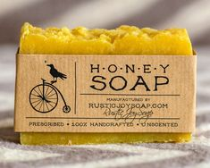 Honey Soap  Rustic Soap All Natural Soap Handmade by RusticJoySoap