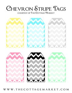 The Cottage Market: Free Chevron Tags Digital and Printable