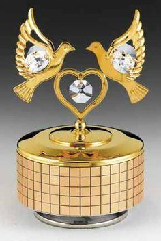 LOVE BIRDS 24k Gold Plated Swarovski