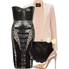 A fashion look from April 2013 featuring Balmain tops, Wallis jackets and River Island skirts. Browse and shop related looks.