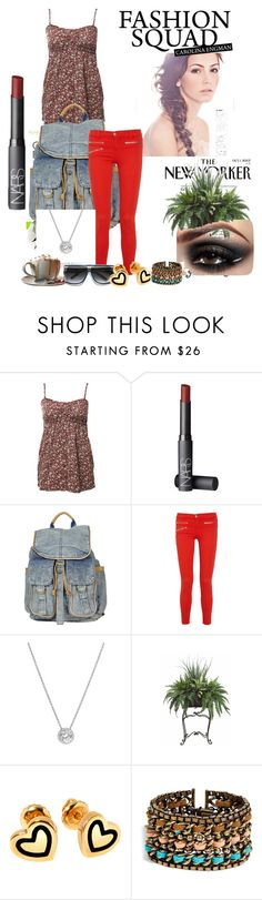 """Eliza Set"" by brittanyweasley ❤ liked on Polyvore featuring NARS Cosmetics, Topshop, J Brand, Nordstrom, The Cambridge Satchel Company, PLANT, Hillier London, DANNIJO, eliza and niall"