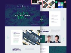 III Agency Landing Page - Another neat & free landing page template suited for a creative agency website. III or Three, has a beautiful and clean design that uses a unique color scheme so if you want your website to stand out from the rest, be sure to give this template a try.