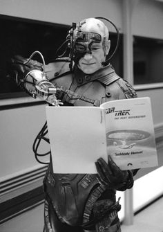 Even the Borg Need to Brush Up on the Script.