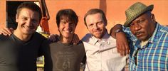 Jeremy Renner, Simon Pegg and Ving Rhames reunite with Tom Cruise for the sequel Mission: Impossible 5 in a photo shared by director Christopher. Jeremy Renner, Tom Cruise, Mission Impossible Rogue, Christopher Mcquarrie, Ving Rhames, Rogue Nation, Simon Pegg, Popular People, On Set