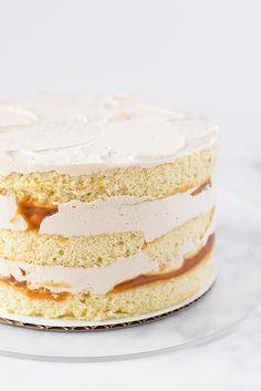 Salted Caramel Layer Cake - Vanilla Bean Sponge with Salted Caramel Sauce and Salted Caramel Buttercream Just Desserts, Delicious Desserts, Dessert Recipes, Cupcakes, Cupcake Cakes, Layer Cake Recipes, Layer Cakes, Caramel Buttercream, Buttercream Recipe