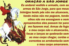 == ORAÇÃO A SÃO JORGE == - AsasAoVento_Luz-&-Amor - Gabitos