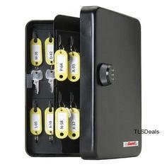 Heavy Gauge Steel 48 Hook KeyGuard Combination Key Cabinet Security Lock Box